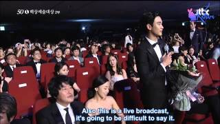 [Engsub] 20140527 - Kim Soo Hyun and MCs Talk - 50th Baeksang Award