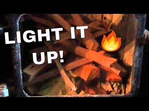 Starting a Fire in a Wood Cookstove