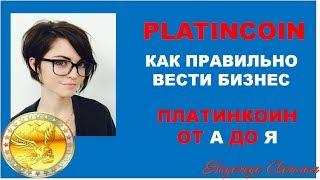 PLATINCOIN/ Как Правильно Вести Бизнес/ Платинкоин обучение от А до Я
