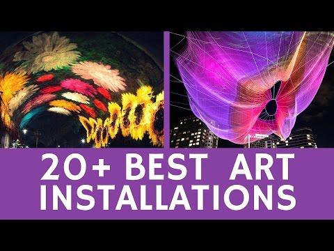 Best ART INSTALLATIONS: 20+ optical illusions & modern art-projects