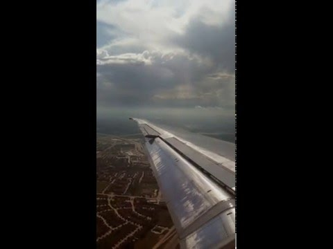 American Airlines MD-80 Landing In Dallas Fort/Worth From Atlanta