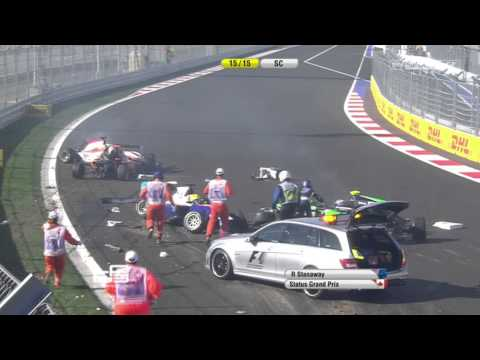 Huge Start Crash @ 2014 GP3 Sochi Race 2
