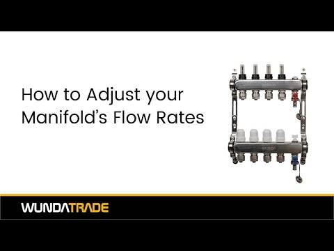 Adjusting your manifold flow rates
