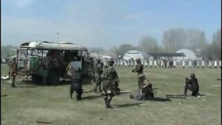 Russian SWAT Team Training - neutralizing a bus that has been taken hostage