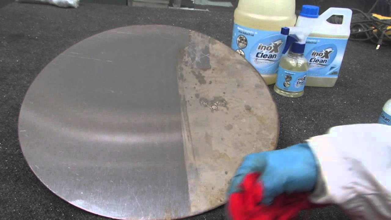 Como limpiar acero inoxidable inox clean youtube - Como limpiar aluminio oxidado ...