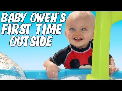Owen's First Time in the Backyard Waterpark