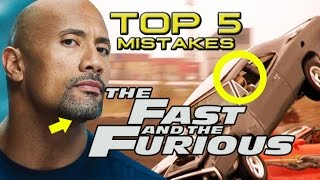 Top 5 Movie Mistakes - The Fast & Furious Franchise (HD) Vin Diesel, Dwayne Johnson, Paul Walker