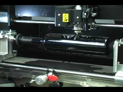 Engraving Wine Bottles with an EGX-360 Rotary Gift Engraver