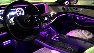 2014 Mercedes-Benz S63 AMG amazing interior lighting