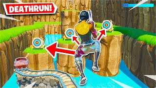 This Deathrun Adventure has FIVE worlds to beat! (Fortnite Creative)