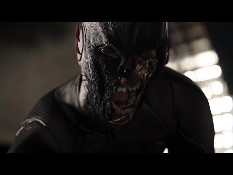 閃電俠第三季之16集閃電俠在神速力中遭遇黑閃電