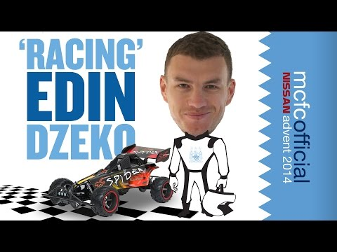 EDIN DZEKO RACE CAR DRIVER | Man City Advent Calendar 2014 | Day Five
