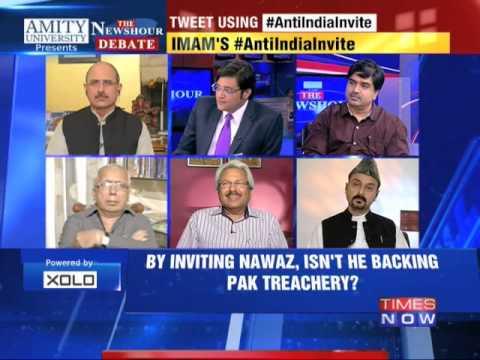 The Newshour Debate: Shahi Imam's Anti India Invite - Part 1 (30th Oct 2014)
