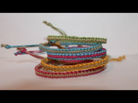 Two-Colored Square Knot Friendship Bracelet