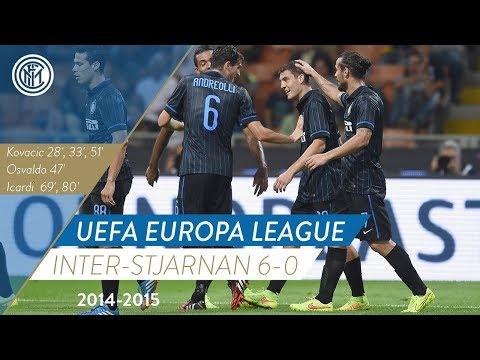 28.8.2014 UEFA Europa League INTER STJARNAN 6-0 HIGHLIGHTS