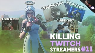 Killing Fortnite Twitch Streamers #11 (A LOT OF RAGING)