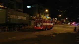 Đoàn xe cứu hỏa xuất kích nửa đêm được CSGT hỗ trợ - Fire trucks responding in midnight