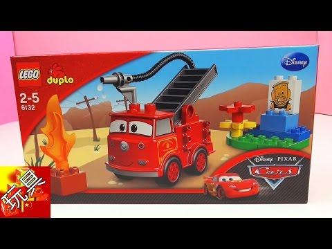 Disney 迪士尼 Cars 2 汽車總動員 消防車 玩具組 套裝 6132 開箱 展示
