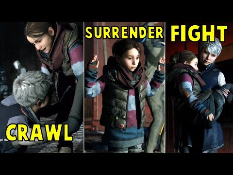 Kara Crawl vs Surrender vs Play Dead to Escape Jericho - Detroit Become Human HD PS4 Pro