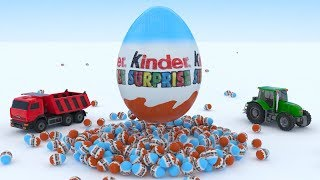 Colors for Kids Learning with Surprise Eggs Unboxing Surprise Kinder 3D, Toy car foi Kid