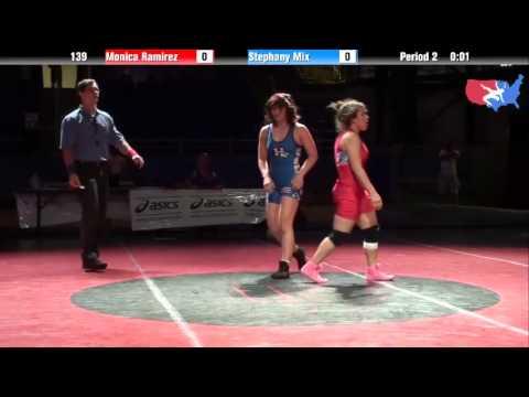 Fargo 2012 139 3rd Place Match: Monica Ramirez (California) vs. Stephany Mix (Hawaii)