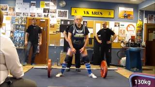 92 year old powerlifter deadlifts 130 Kg СУПЕР!