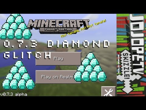 Minecraft Pocket Edition - Unlimited Diamonds Glitch 0.7.3 iPod/iPad/iPhone