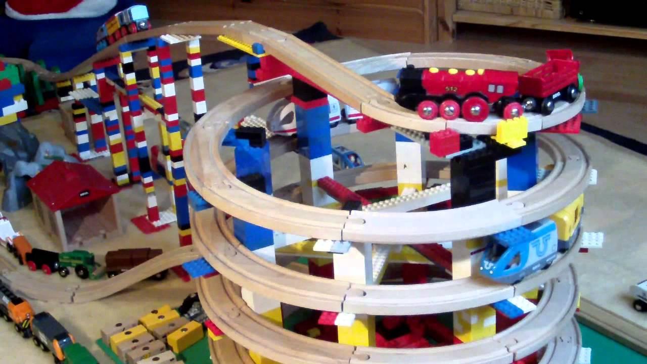BRIO Eisenbahn und LEGO - BRIO Wooden Railway System and ...