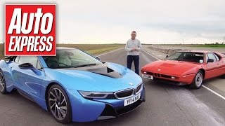 BMW i8 vs BMW M1 track battle