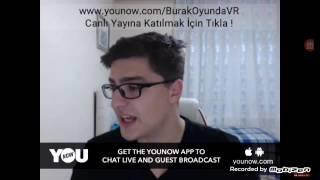 Burak oyunda YouNow yayını