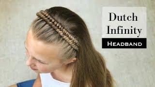 Dutch Inifinity Headband Braid by Erin Balogh