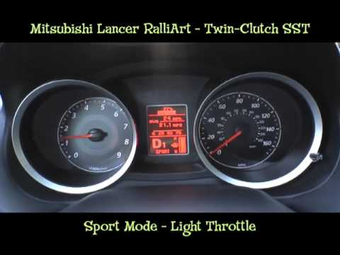 Mitsubishi Twin-Clutch SST Transmission - Lancer RalliArt