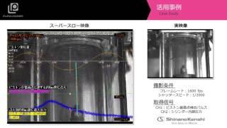 ハイスピードカメラ+データロガー 「ガラスシリンダエンジン」