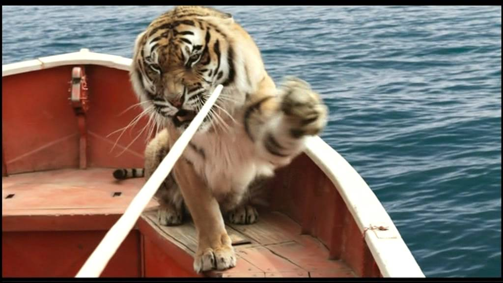 Life of pi schiffbruch mit tiger film clip training for Richard parker life of pi