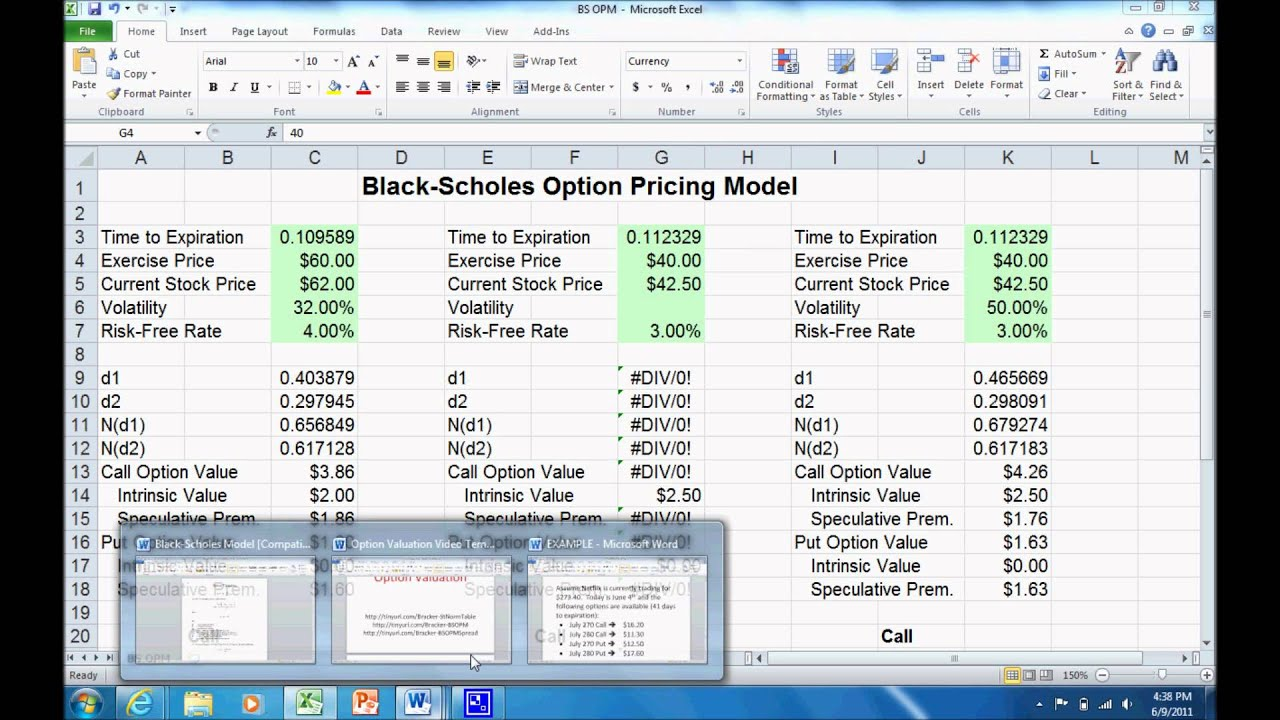 Pricing binary options formula