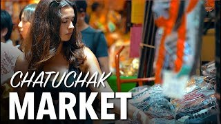 WORLDS BIGGEST MARKET - Chatuchak Weekend Market, Bangkok Thailand