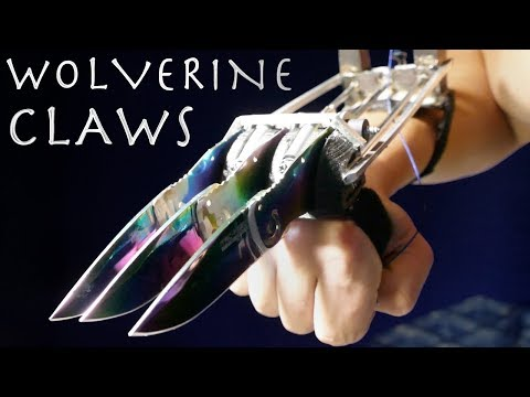 How To Make WOLVERINE CLAWS! - Rainbow Metal, Automatic, Spring Loaded (X-Men)
