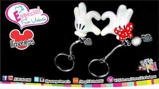 Llaveros Corazón Mickey & Minnie / Mickey & Minnie Heart Keychain