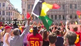 LIVE: Belgian fans greet national team in Brussels