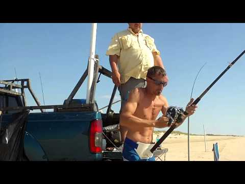 Matagorda Land Based Shark Fishing