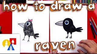 How To Draw A Cartoon Raven