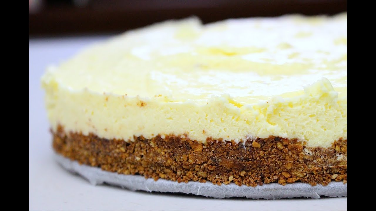 White Chocolate Cheesecake - No bake - YouTube