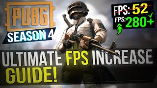 🔧 PUBG: SEASON 4 UPDATE! Dramatically increase FPS / Performance with any setup! PUBG FPS 2019