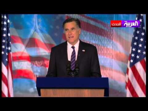 image vidéo ميت رومني يلقي خطابه بعد الهزيمة