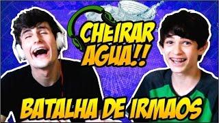 Batalha De Irmãos - CHEIRANDO ÁGUA COM CANUDO!!