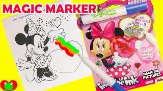 Minnie Mouse Imagine Ink Magic Marker Coloring and Shopkins Season 7 Surprises