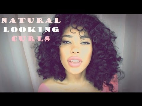 How To Get Natural Looking Spiral Curls Youtube