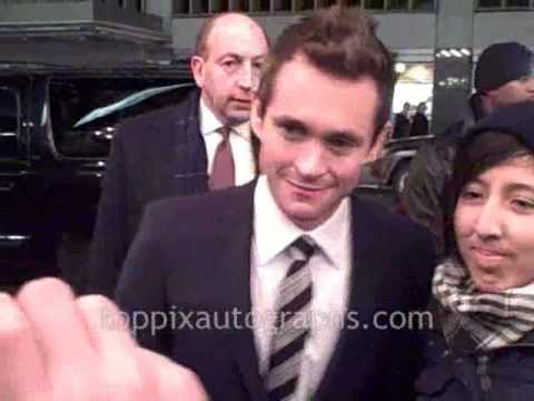 Hugh Dancy - Signing Autographs at the Confessions of a Shopaholic Premiere in NYC