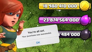I SPENT EVERYTHING ............CLASH OF CLANS - COC