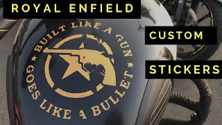 Royal Enfield Custom Stickers Modification   Best Sticker design for Royal Enfield